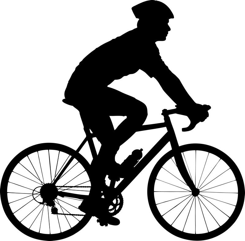 Наклейка «Велосипедист»Транспорт<br><br>