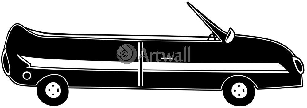 Наклейка «Кабриолет»Транспорт<br><br>