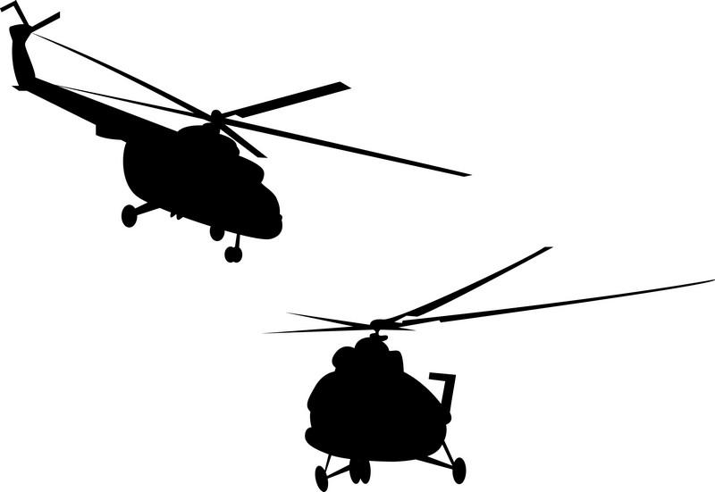 Наклейка «Два вертолёта»Транспорт<br><br>