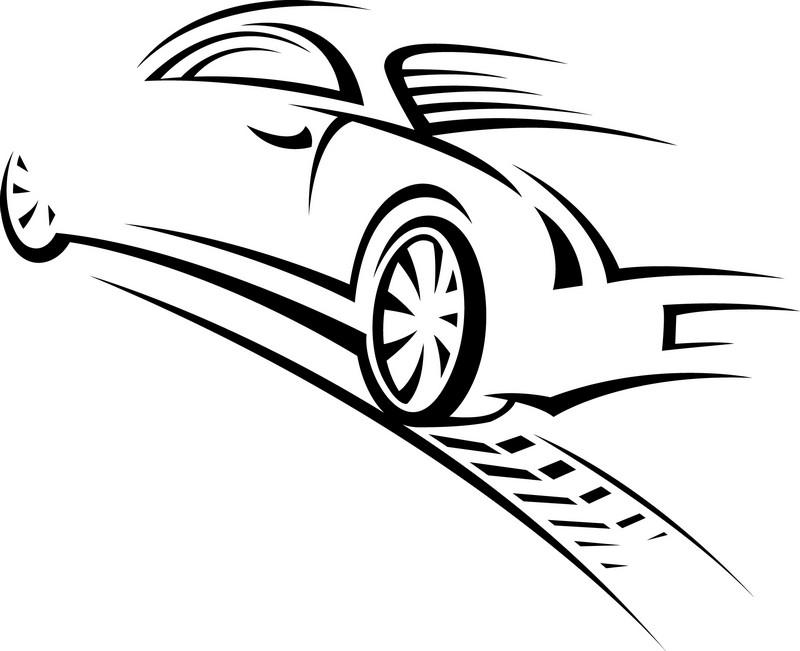 Наклейка «Авто в движении»Транспорт<br><br>