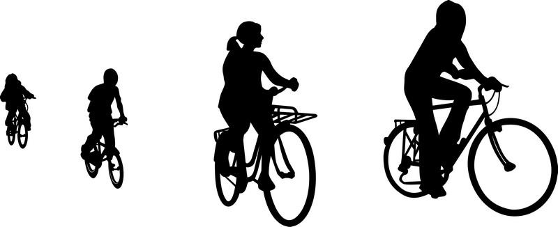 Наклейка «Четвёрка велосипедистов»Транспорт<br><br>