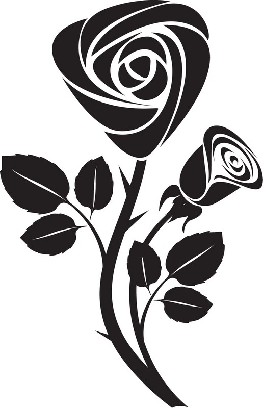 Наклейка «Две розы»Цветы<br><br>