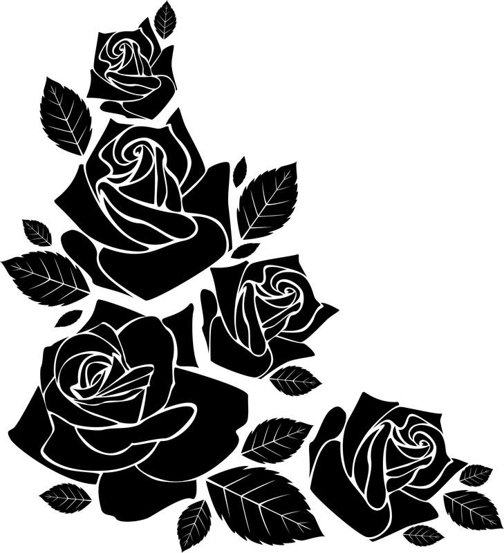 Наклейка «Угол в розах»Цветы<br><br>