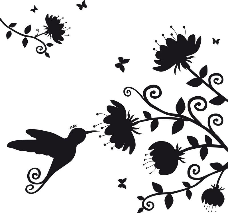 Наклейка «Птичка на цветке»Цветы<br><br>