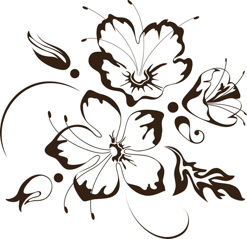 Наклейка «Цветы с усиками»Цветы<br><br>