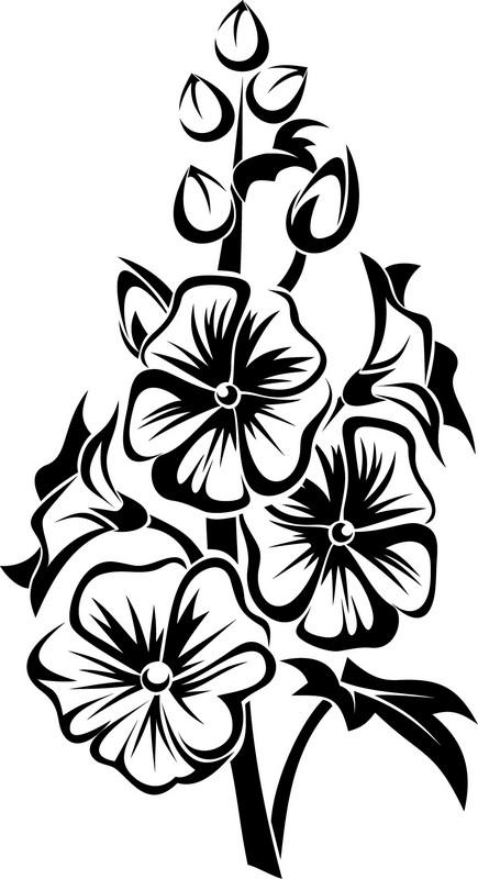 Наклейка «Букет-конус»Цветы<br><br>