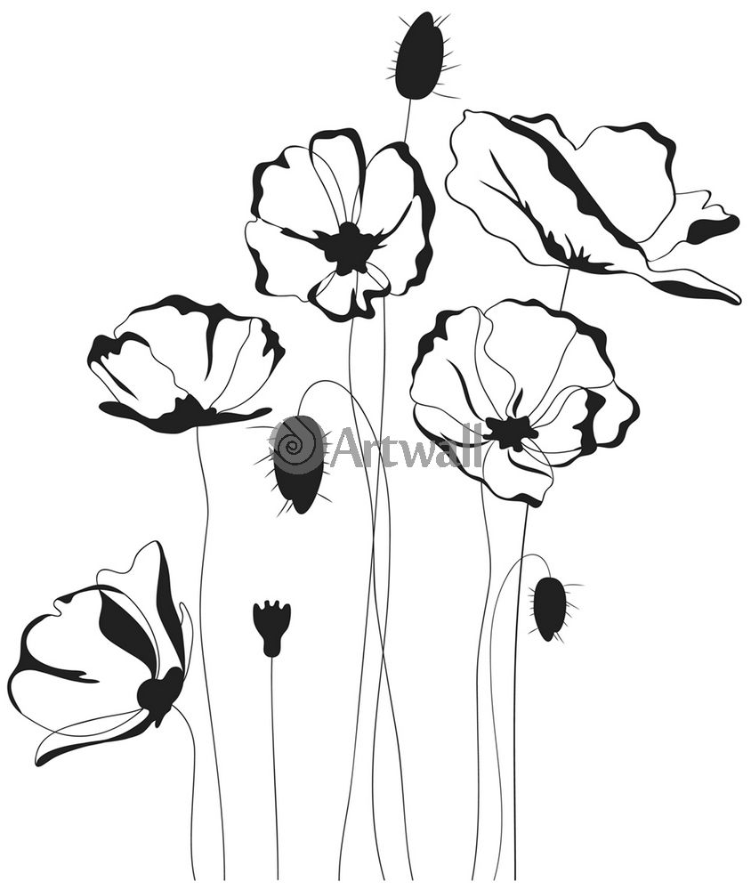 Наклейка «Цветы и жучки»Цветы<br><br>