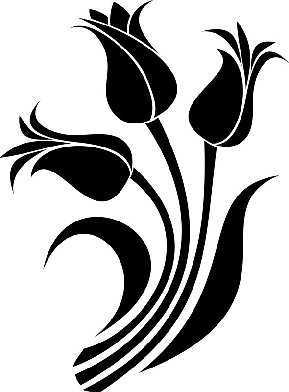Наклейка «Три тюльпана»Цветы<br><br>