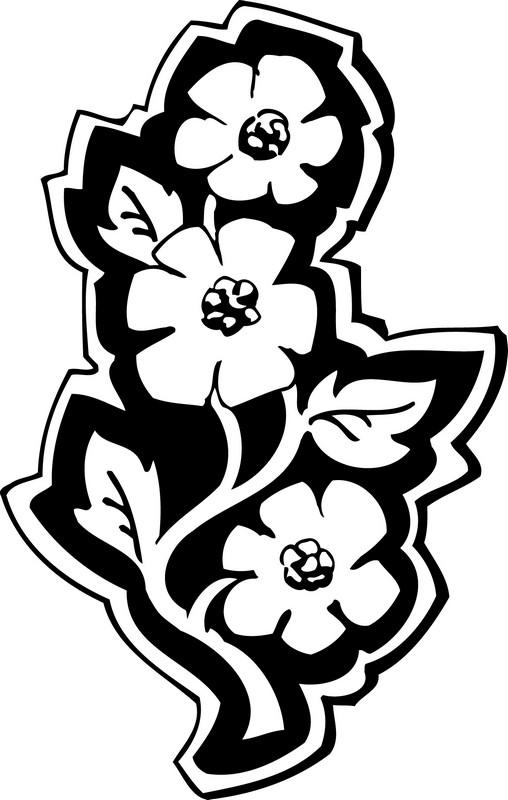 Наклейка «Три цветка на стебле»Цветы<br><br>