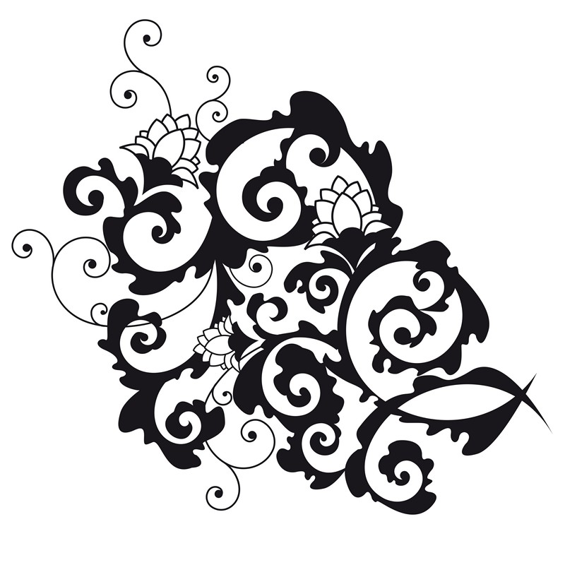 Наклейка «Цветы в орнаменте»Цветы<br><br>