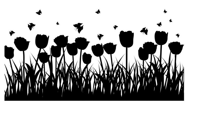 Наклейка «Море тюльпанов»Цветы<br><br>