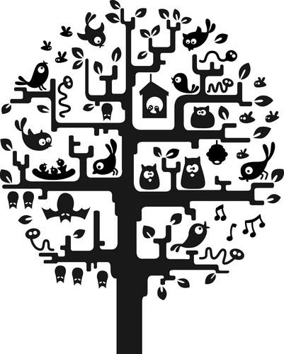 Наклейка «Обитаемое дерево»Деревья<br><br>