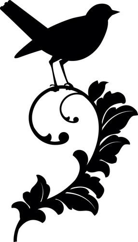 Наклейка «Птичка на ветке»