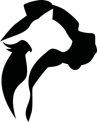 Наклейка «Три животных в профиль»