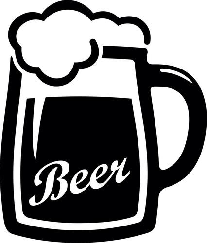 Наклейка «Пиво с пеной»Для кухни, столовой<br><br>