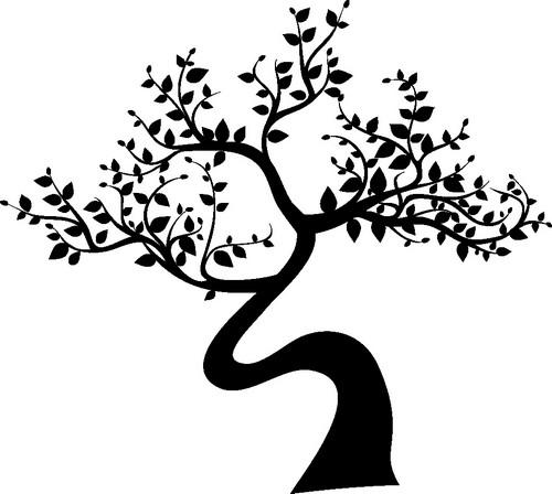 Наклейка «Изогнутое дерево»