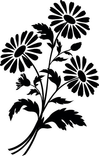 Наклейка «Три ромашки»Цветы<br><br>