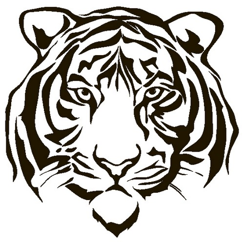 Наклейка «Морда тигра»Животные и птицы<br><br>