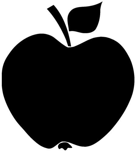 Наклейка «Чёрное яблоко»Для кухни, столовой<br><br>
