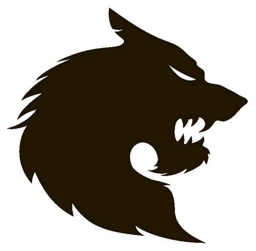 Наклейка «Голова волка в профиль»Волшебные существа<br><br>
