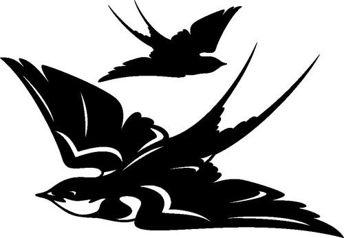 Наклейка «Пара птиц»Животные и птицы<br><br>