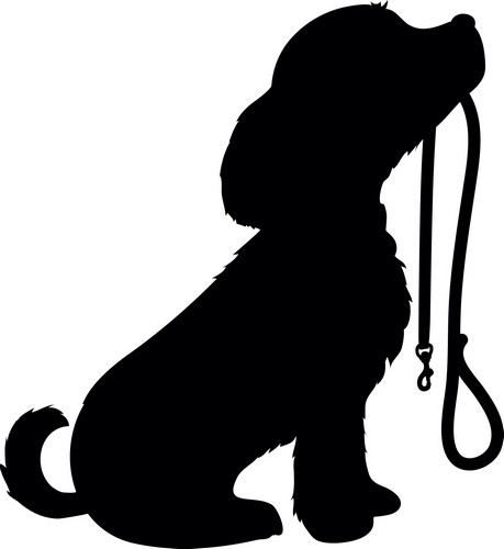 Наклейка «Пёсик с поводком»Животные и птицы<br><br>