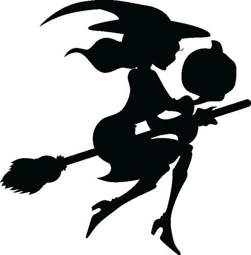 Наклейка «Ведьма на метле»Волшебные существа<br><br>