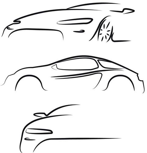 Наклейка «Эскизы авто»Транспорт<br><br>