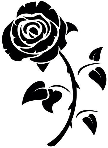Наклейка «Роза на стебле»Цветы<br><br>