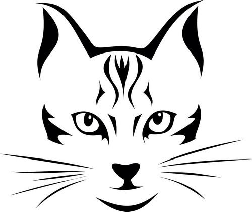 Наклейка «Кошачья морда»Животные и птицы<br><br>
