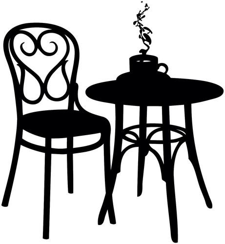 Наклейка «Стул и стол»Для кухни, столовой<br><br>