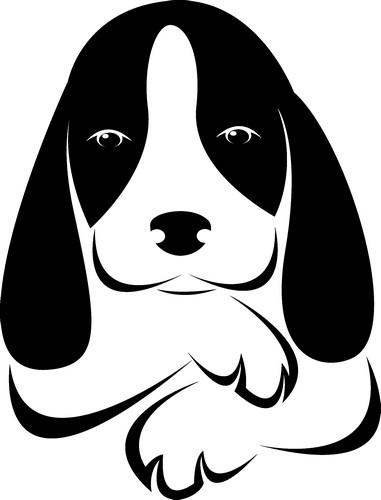 Наклейка «Грустный пёсик»Животные и птицы<br><br>