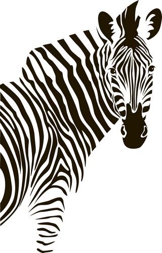 Наклейка «Зебра повернулась»Животные и птицы<br><br>