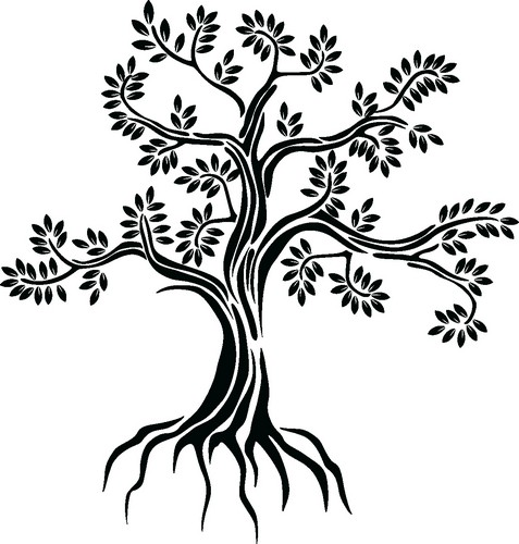 Наклейка «Старое дерево»