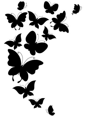 Наклейка «Стая бабочек»Насекомые<br><br>
