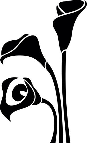 Наклейка «Три цветка»Цветы<br><br>