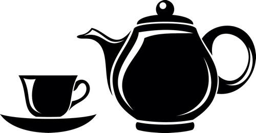 Наклейка «Чайник и чашка»Для кухни, столовой<br><br>