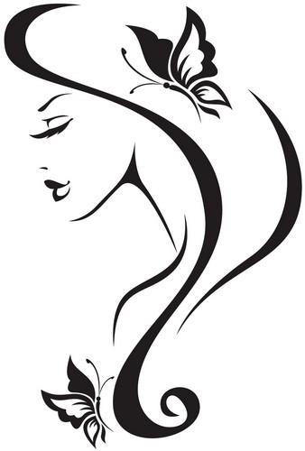 Наклейка «Девушка и бабочки»Люди<br><br>