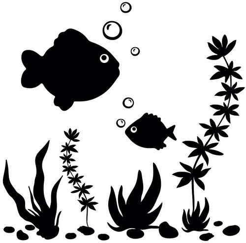 Наклейка «Большая и малая рыбки»Животные и птицы<br><br>