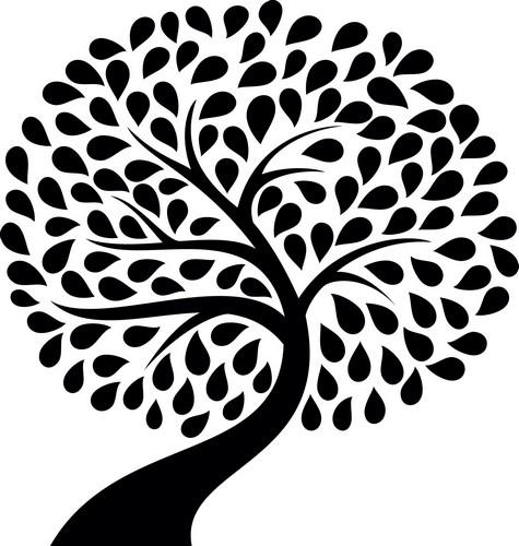 Наклейка «Наклонившееся дерево»