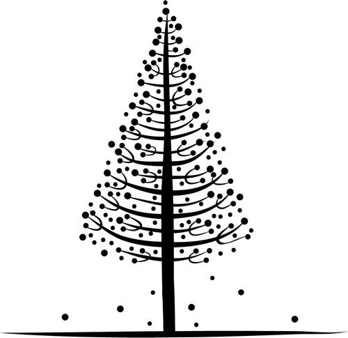 Наклейка «Дерево в шариках»