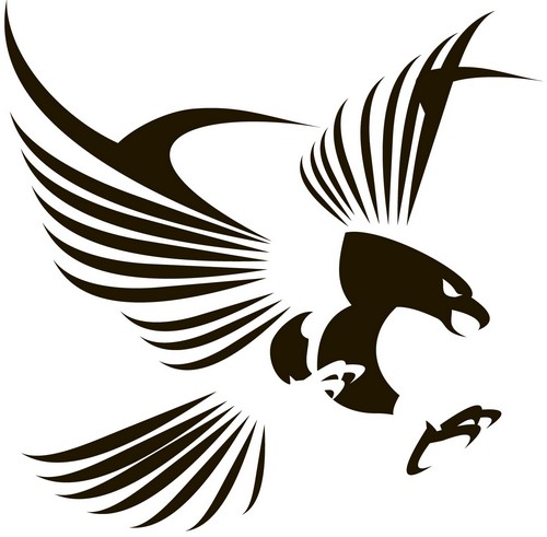 Наклейка «Хищный орёл»Животные и птицы<br><br>