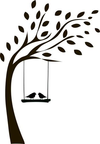 Наклейка «Птицы на жордочке»Животные и птицы<br><br>