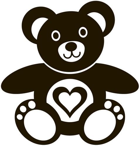 Наклейка «Мишка с сердечком»Детские<br><br>