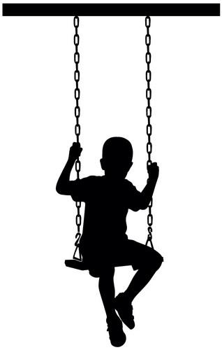 Наклейка «Мальчик на качеле»Люди<br><br>