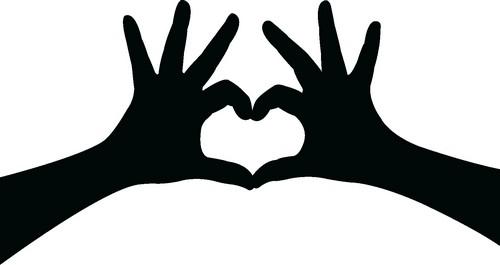 Наклейка «Сердечко из пальцев»Любовь<br><br>