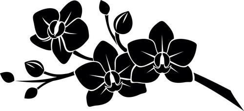 Наклейка  «Три цветка на ветви»Цветы<br><br>