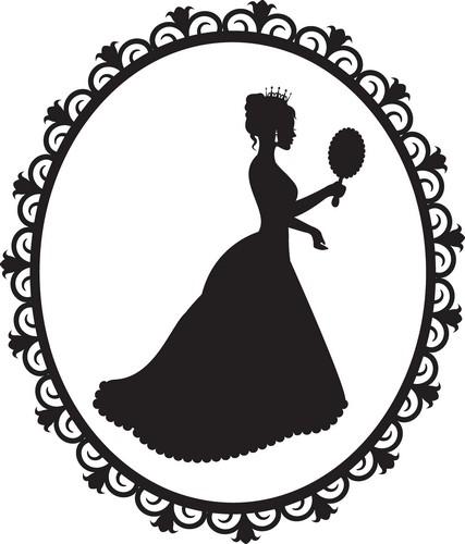 Наклейка «Королева и зеркало»Люди<br><br>