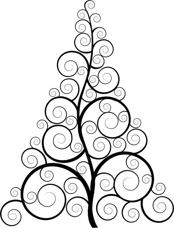 Наклейка «Ёлка в завитушках»Новогодние<br><br>