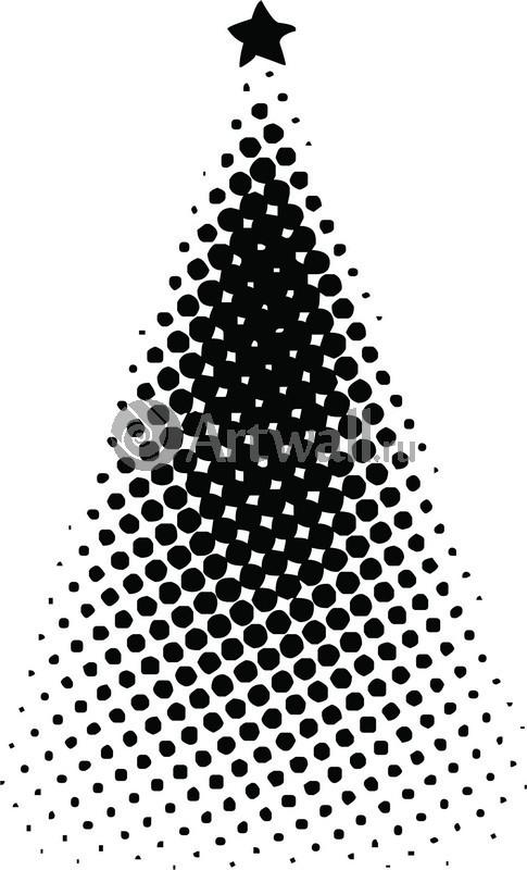 Наклейка  «Ёлка в точках»Новогодние<br><br>